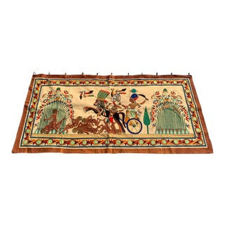 French Grand Tour Egyptian Tomb Tapestry, Circa 1925 For Sale