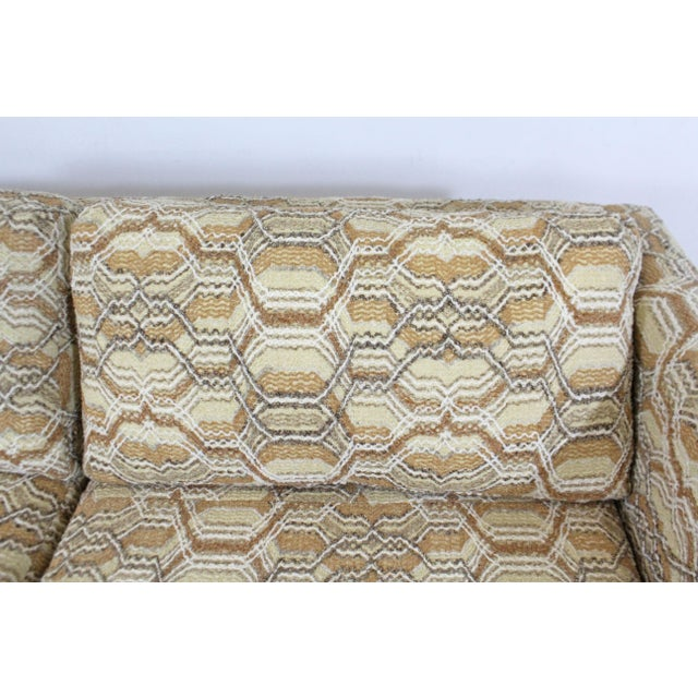 Textile Vintage Mid-Century Modern Lovseat Sofa For Sale - Image 7 of 9
