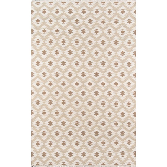 "Erin Gates Thompson Newbury Beige Hand Woven Wool Area Rug 3'6"" X 5'6"" For Sale"