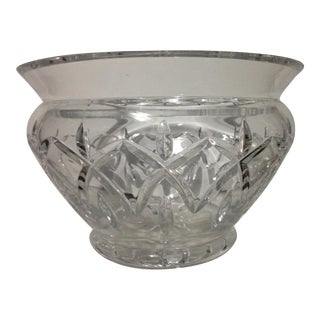 Large Waterford Crystal Centerpiece Bowl For Sale