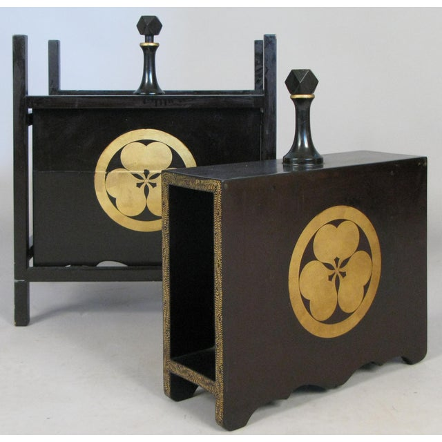19th Century Antique Lacquered Japanese Sake Casks- A Pair For Sale - Image 11 of 11