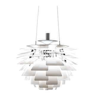 Poul Henningsen White PH Artichoke Chandelier for Louis Poulsen For Sale