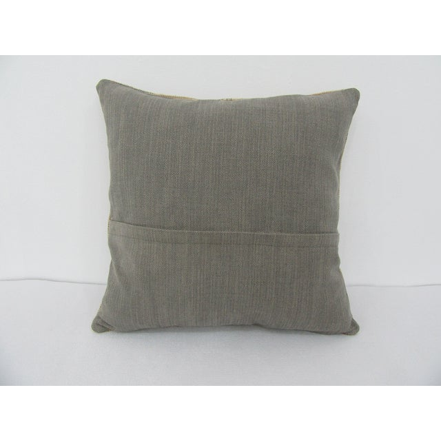 Turkish Turkish Faded Decorative Vintage Pillow For Sale - Image 3 of 4