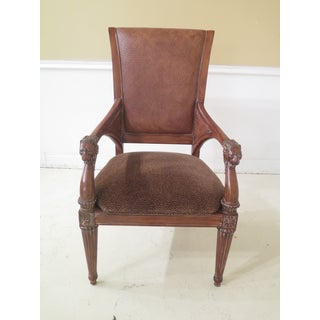 1990s Vintage Thomasville Regency Style Arm Chairs- A Pair Preview
