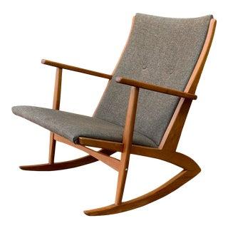 1950s Vintage Danish Georg Jensen Tønder Møbelværk Teak Rocking Chair For Sale