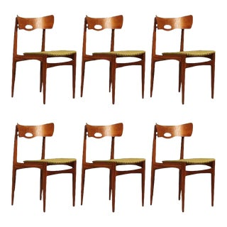 Danish Vintage Teak Chairs by Bramin, 1960s - Set of 6 For Sale