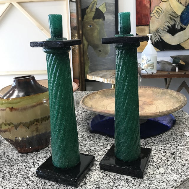 1970s Murano Lamp Bases - a Pair For Sale - Image 11 of 12