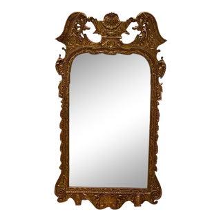 Vintage English Gilt Wall Mirror For Sale