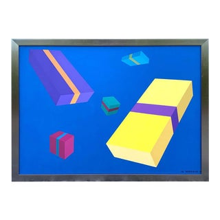Original Modern Oil Painting, Geometry Study, M. Vondrak71 For Sale