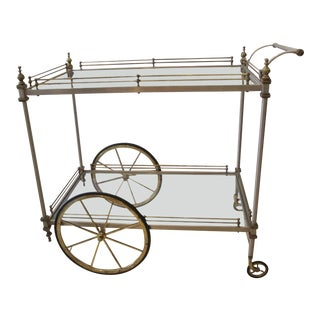 1960s Traditional Maison Jansen Bar/Tea Cart For Sale