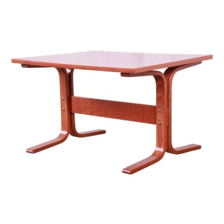 Ingmar Relling for Westnofa Bentwood Teak Siesta Occasional Side Table For Sale