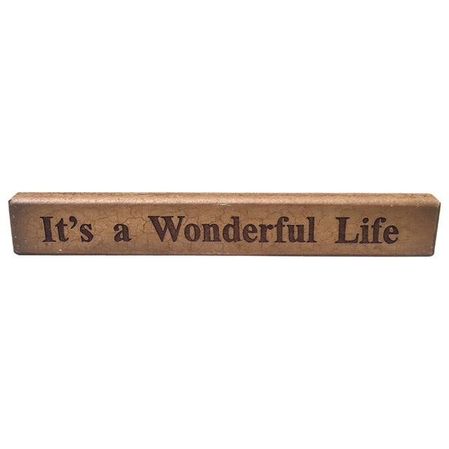 Vintage It's a Wonderful Life Sign - Image 1 of 5
