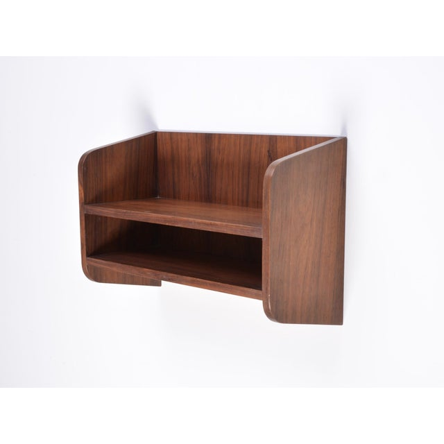 Small Danish Rosewood Wall Shelf, 1960s For Sale - Image 6 of 10