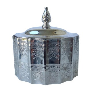 Silverplate Moorish Lidded Keepsake Box For Sale