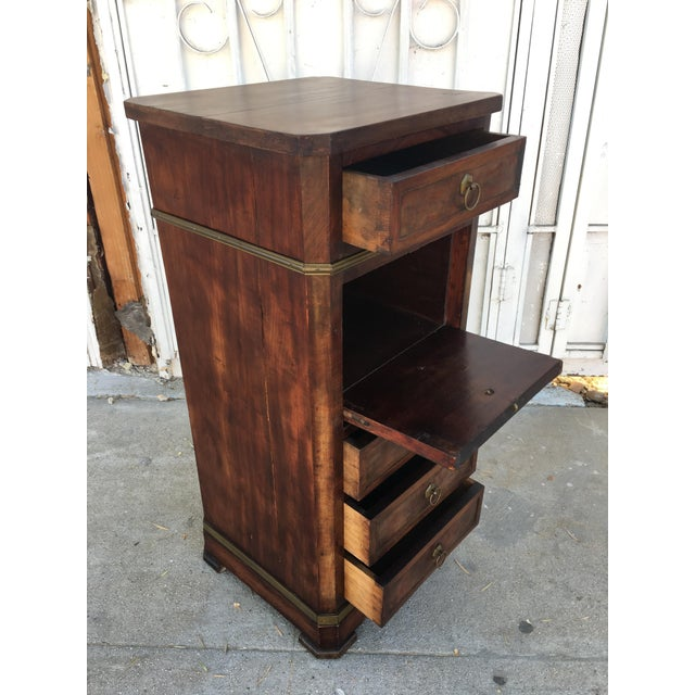 Antique Walnut & Brass Chest of Drawers - Image 8 of 11