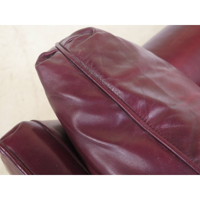 Burgundy Leather Club Chairs - A Pair - Image 11 of 13