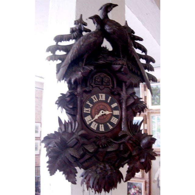 Mid 19th Century 19th Century Black Forest Cuckoo Clock For Sale - Image 5 of 7