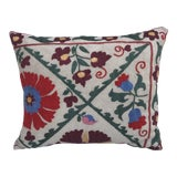 Image of Antique Embroidered Suzani Pillow For Sale