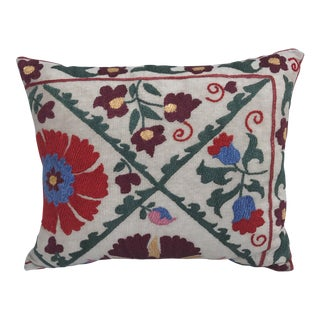 Antique Embroidered Suzani Pillow