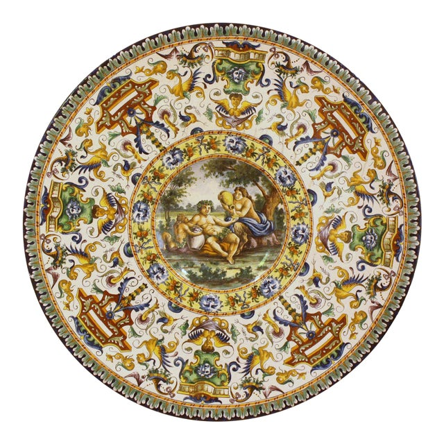 Italian Renaissance-Style Majolica Chargers With Images After Annibale Carracci (1560-1609) - Image 2 of 13