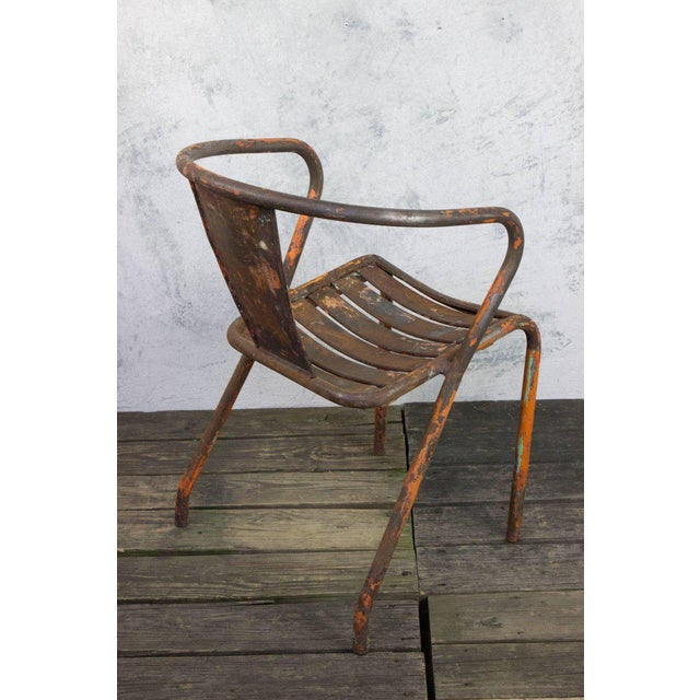 Pair of French Tolix Chairs With Original Paint Finish - Image 7 of 11