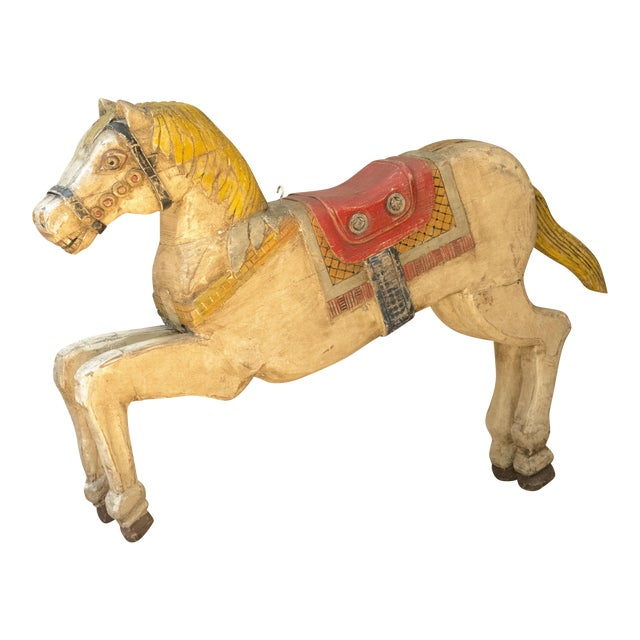 Antique Wooden Polychrome Carousel Horse - Image 1 of 8