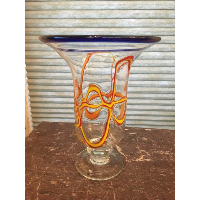 Primary Color Art Glass Vase - Image 5 of 9