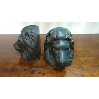 Bronze Lion Head Bookends- A Pair Preview