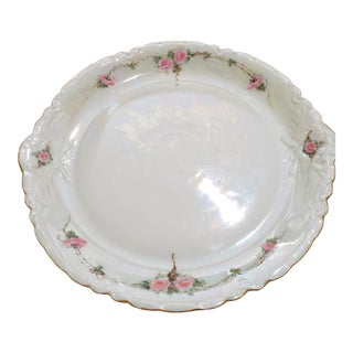 1950s Art Nouveau Bavarian White Porcelain Platter For Sale