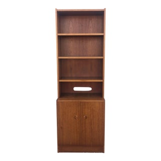 Scandinavian Modern Teak Shelving Unit W Cabinets For Sale