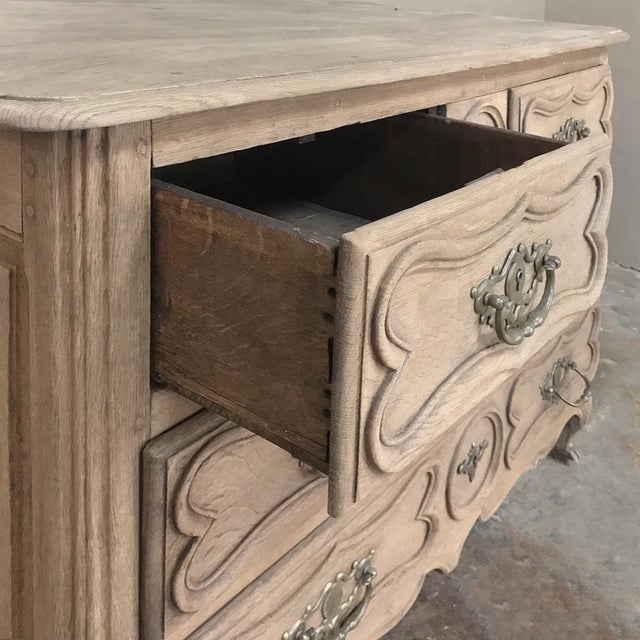 18th Century Country French Stripped Oak Provincial Commode For Sale - Image 12 of 13