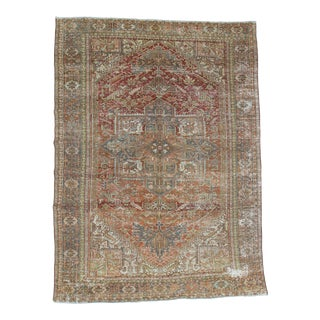 Distressed Persian Hareez Rug - 9′10″ × 13′5″