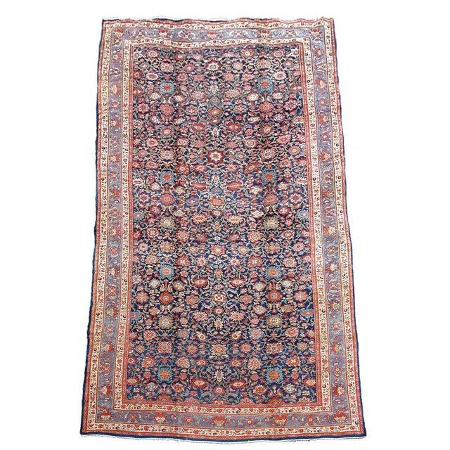 Islamic Orange & Violet Hamadan Carpet - 13′5″ × 20′5″ For Sale - Image 3 of 3