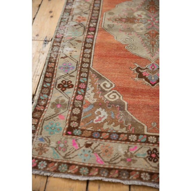 """Vintage Distressed Oushak Rug Runner - 3'5"""" X 10'11"""" For Sale In New York - Image 6 of 13"""