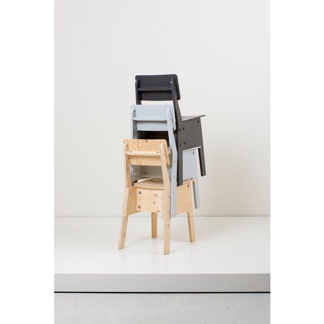 Piet Hein Eek 1 of 3 Crisis Chairs by Piet Hein Eek in Plywood For Sale - Image 4 of 13