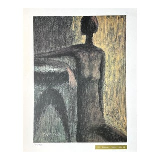 """1969 """"Solitude"""" Lithograph on Heavy Art Paper Numbered #126/1200 by Kiyoshi Saitō For Sale"""