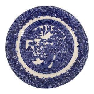 Antique Staffordshire Blue & White Plate For Sale