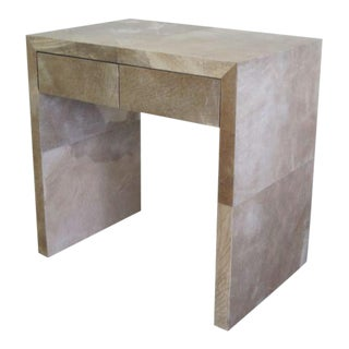 Pair of French Parchment Nightstands in the style of Jean-Michel Frank