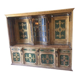 19th C Italian Giltwood and Painted Sideboard For Sale