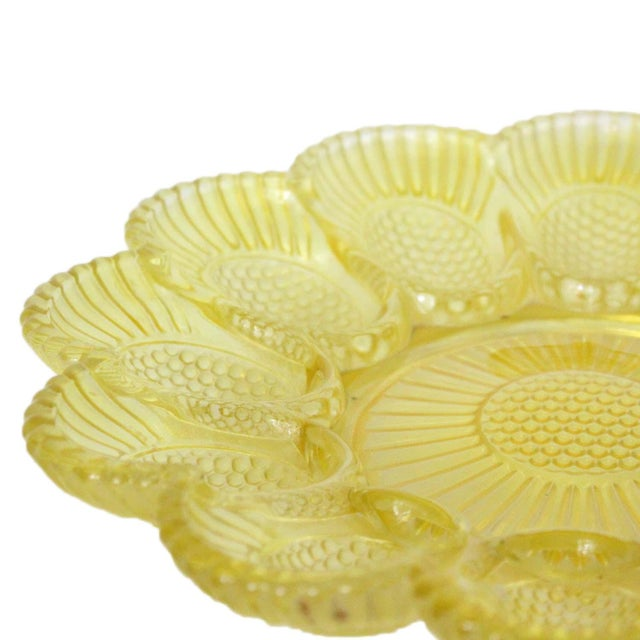 Vintage Yellow Deviled Egg Plate - Image 4 of 4