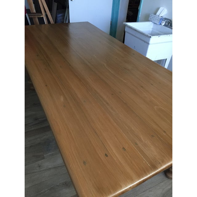 Rustic Farmhouse Dining Table - Image 10 of 10
