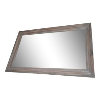 Reclaimed Wood Framed Mirror Clear Coat Matte 30'' X 48''