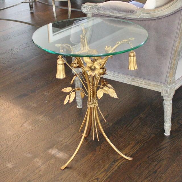 Vintage Italian Gilt Tassel & Rope Table - Image 5 of 5