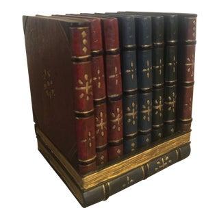 Vintage Exquisite Detailed Embellished Book Coaster Set - 7 Pieces For Sale