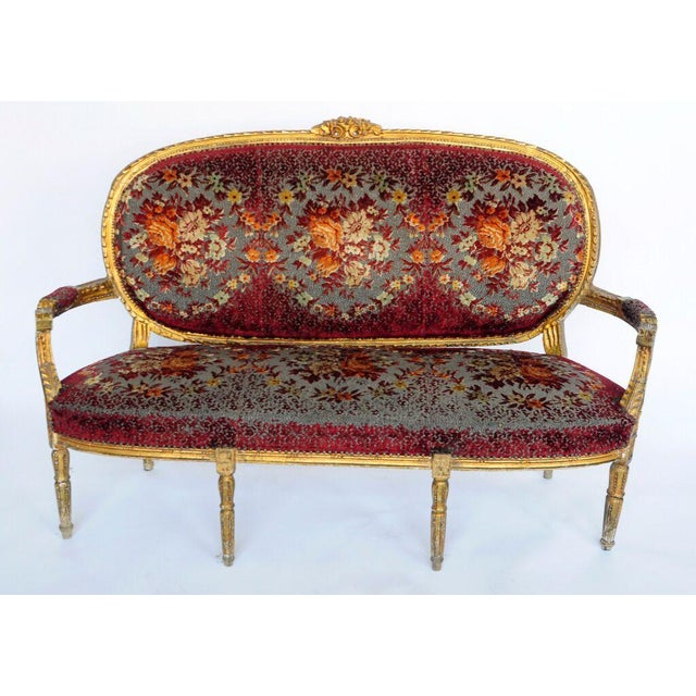 1900's Gilded Settee - Image 2 of 2