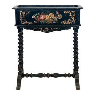 19th Century Lacquer and Painted Planter, Circa 1890 For Sale