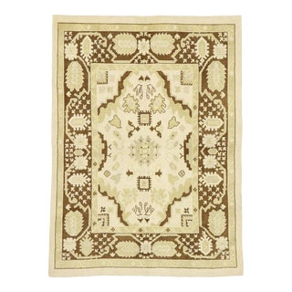 Contemporary Turkish Oushak Rug With Modern Style - 06'02 X 08'05 For Sale
