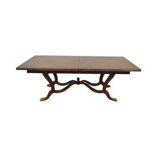 Ferguson Copeland Regency Style Large Burl Wood Blenheim Dining Table For Sale