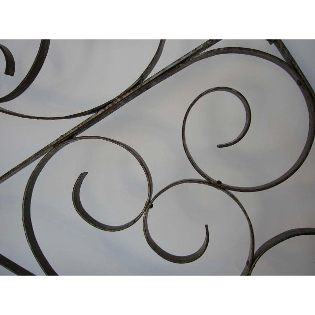 Mid 19th Century Large Scale Decorative Iron Architectural Arch For Sale - Image 5 of 10