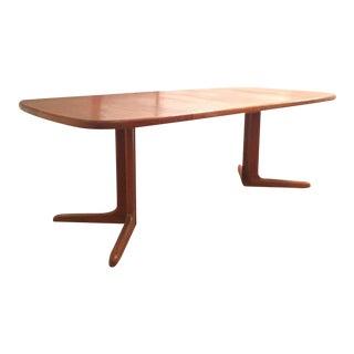 1960s Danish Modern Skovby Teak Extendable Dining Table